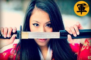 samurai knife woman